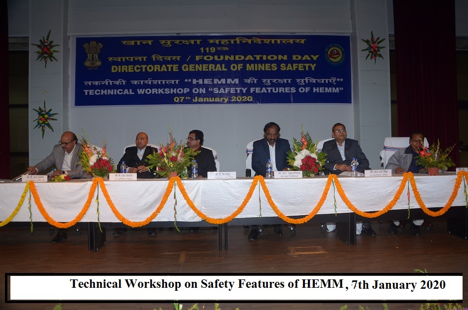 Technical Workshop on Safety Features of HEMM held on 7th January 2020